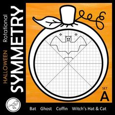 Your students will have lots of fun with these rotational symmetry tasks. 4 DIFFERENT PICTURES ♦ Bat ♦ Ghost (and the word 'Boo') ♦ Coffin ♦ Witch's Hat and Cat 4 DIFFERENT TEMPLATES ♦ Reflect then rotate ♦ Classroom Resources, Math Classroom, Maths, Rotational Symmetry, Print Templates, Coffin, Reflection, Students, Messages