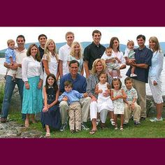 Romney family - talk about a great gene pool, this family is full of quiet guys with big brains. Yeah, they're kinda nerdy.