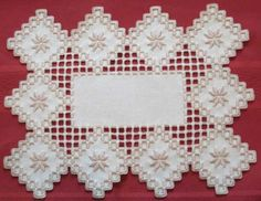 ... flowers. The fabric is hardanger