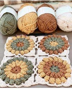 Crochet Quilt, Crochet Blocks, Crochet Pillow, Crochet Home, Love Crochet, Crochet Motif, Diy Crochet, Crochet Designs, Crochet Crafts