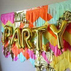 Festive Summer garland backdrop and streamers by Frolicpartyshop Wall Backdrops, Diy Backdrop, Streamer Wall, Crepe Streamers, Baby 1st Birthday, Fiesta Party, Colorful Party, Backdrops For Parties, 1st Birthdays