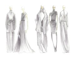 #simply Elegance in simplicity. Halston Heritage Fall 2012 Sketches.