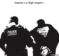 Khalid Albaih: Superman is an illegal immigrant...