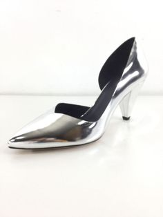 15833dd0827 U57 NEW Isabel Marant Palma Silver Leather Pointy Toe Pumps Women s Size 41  M  fashion