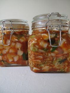 Daikon kimchi recipe:  4 lb. daikon 1 inch cubes--add 1 T each salt and sugar, mix well, let sit 30 min.  mix juice with rest of ingredients:, 4 green onion sliced, 1/4 c Korean chili pwd, 6 garlic cloves minced, 1 t minced ginger, 1/4 c fish sauc,