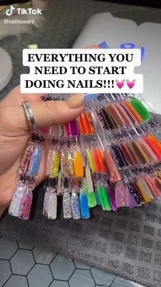 Acrylic Nail Supplies, Acrylic Nails At Home, Acrylic Nail Tips, Bling Acrylic Nails, Cute Acrylic Nail Designs, Acrylic Nails Coffin Short, Simple Acrylic Nails, Summer Acrylic Nails, Business Nails