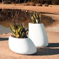 Vondom Stone, Illuminated, Large outdoor planter, planters - Homeinfatuation.com