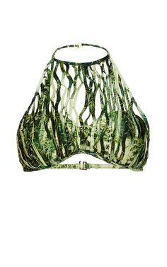 Bikini Top, High By The Beach, Coco Fashion, Vacation Wardrobe, Beach Cover Ups, Tropical Dress, Warm Weather Outfits, Cactus Print, Bikinis