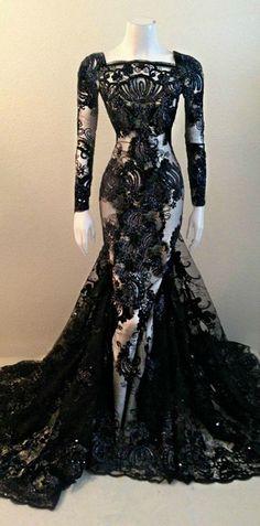 Elegant Prom Dress,Beaded Prom Dress,Mermaid Prom Dress,Lace Prom