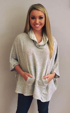 Jamie Oversized Pocket Sweatshirt $75