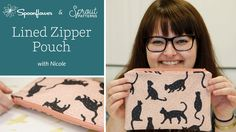 How To: Lined Zipper Pouch | Spoonflower + Sprout Patterns Lined Zipper Pouch - YouTube