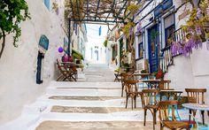 Chora, Astypalea © Nisa Maier Hotels, Street, Painting, Image, Last Minute Vacation, Greek Islands, Greece, Painting Art, Paintings