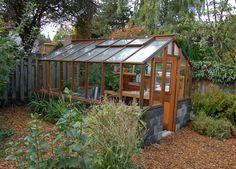 Greenhouse on Concrete block base wall