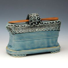 Butter dish. Pottery