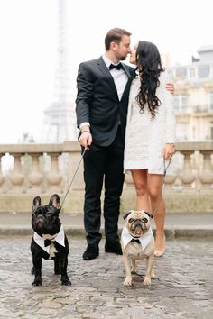 Sina and Martin's Chic Paris Town Hall Wedding | Photographer: French Grey Photography