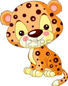 Fun zoo  Illustration of cute Jaguar