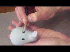 How to make an Fondant Elephant Topper - YouTube