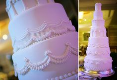 A seven-tiered cake with intricate swag and regal border details. Philippines Culture, Traditional Wedding Cake, White Wedding Cakes, Dessert Table, Wedding Styles, Compliments, Wedding Ceremony, Sweets, Swag
