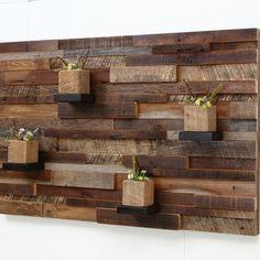 "Reclaimed Wood Wall Art 37""X24""X5"" Made Of Old Barn Wood"