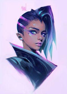 Sombra (Overwatch) by rossdraws