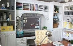 One day I will have this home office! I love absolutely every single thing about it! @thehouseofsmiths.com  The House of Smiths - Home DIY Blog - Interior Decorating Blog - Decorating on a Budget Blog #HomeOffice #DecoratingOnaBudget #TheHouseOfSmiths