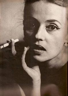 Jeanne Moreau by Dan Budnik, 1962  I know, I know...heart attacks, strokes, lung disease. But there's something about a smoke...