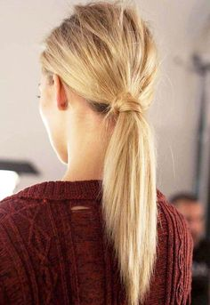 Messy wrapped ponytail