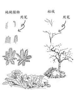我的收藏 微博-随时随地发现新鲜事 Landscape Sketch, Landscape Drawings, Architecture Drawings, Ink Pen Drawings, Realistic Drawings, Cartoon Drawings, Forest Drawing, Garden Drawing, Drawing Trees