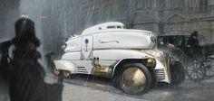 #Steampunk Tendencies | Steampunkish Car - P. Raveneau #Design #Concept