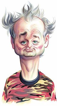 quenalbertini: Bill Murray Caricature by John Kascht Funny Caricatures, Celebrity Caricatures, Celebrity Drawings, Cartoon Faces, Funny Faces, Cartoon Art, Bill Murray, Caricature Artist, Caricature Drawing