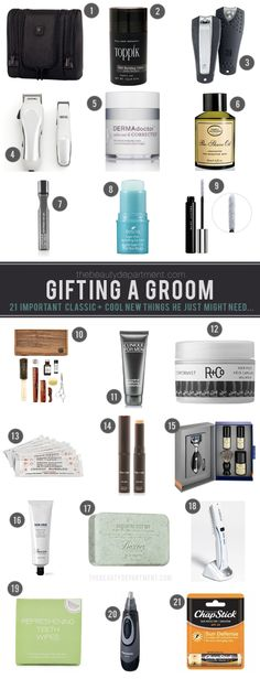 Best Groom's Guide EVER. See some classics and learn about some of our new faves for him...