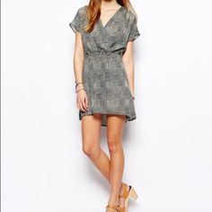 Dress Sheer dress with open back. RVCA Dresses