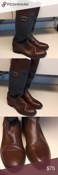 Tommy Hilfiger Boots 91/2 Brown and Grey Boots Tommy Hilfiger Shoes Heeled Boots