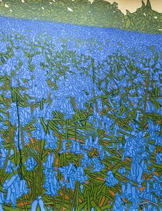 "Saatchi Art Artist Malcolm Warrilow; Painting, ""Bluebell Knoll (sold)"" #art"