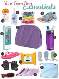 Gym Bag Essentials for the Ladies #fitness