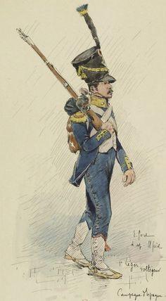 Infantería Ligera 1º Voltigeur in Spain by E.Fort