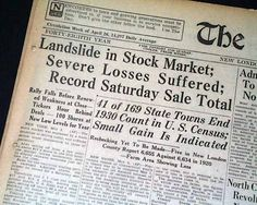 the great depression newspaper headlines from the stock market  stock market essay best newspaper for stock market 19 cad to usd