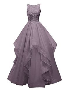Dresstells® Long Prom Dress Asymmetric Bridesmaid Dress Beaded Organza Gown Grey Size 6 Dresstells http://www.amazon.com/dp/B018G595PG/ref=cm_sw_r_pi_dp_Px33wb0MPN4V7