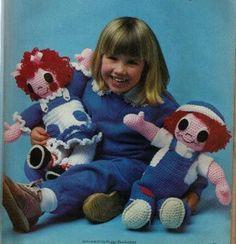 Free Raggedy Ann & Andy Crochet Doll pattern