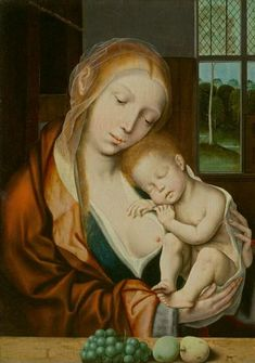Quentin Massys (Followers of the 16th century) (Löwen 1465 - 1530 Antwerpen), Madonna and Child. Oil on wood. 53,5 x 38 cm. Estimate CHF 140...