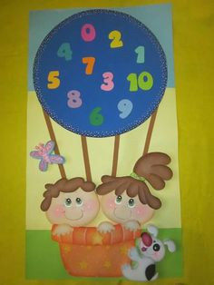 Globo Kindergarten Classroom Decor, Classroom Board, Class Decoration, School Decorations, Diy And Crafts, Crafts For Kids, Preschool Art Activities, Birthday Charts, Applique Designs