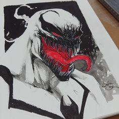 Anti Venom commission by Daniel HDR  #marvel #comics #spiderman