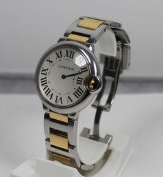 Cartier Uhr Ballon Bleu Quarz Stahl-Gold Ref.-Nr. W69008Z3 mit Box und Papieren  https://www.ipfand.de/cartier/  #Cartier #Ballonbleu #W69008Z3