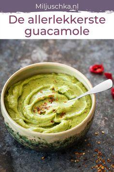 Guacamole, Lunch Restaurants, Healthy Snacks, Healthy Recipes, Good Food, Yummy Food, True Food, Dutch Recipes, Iftar