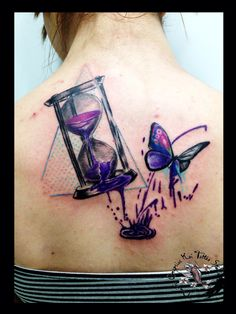 Hourglass by dimitris grapsias koi tattoo