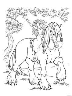 Merida na koni