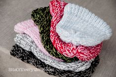 Bits Of Everything: Knitting Loom Hats: Tips For Beginners