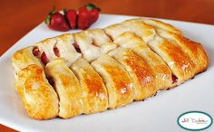 easy strawberries and cream danish