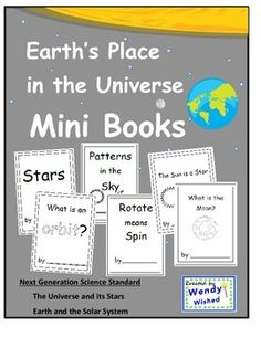 Mini-books:  stars, patterns, orbit, rotate, sun, moon