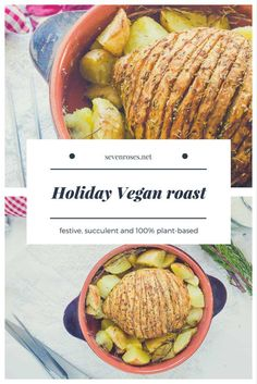 festive, decadent, yummy Vegan Holiday Roast that will please everybody at your holiday table. Can you guess what the 1 ingredient is?